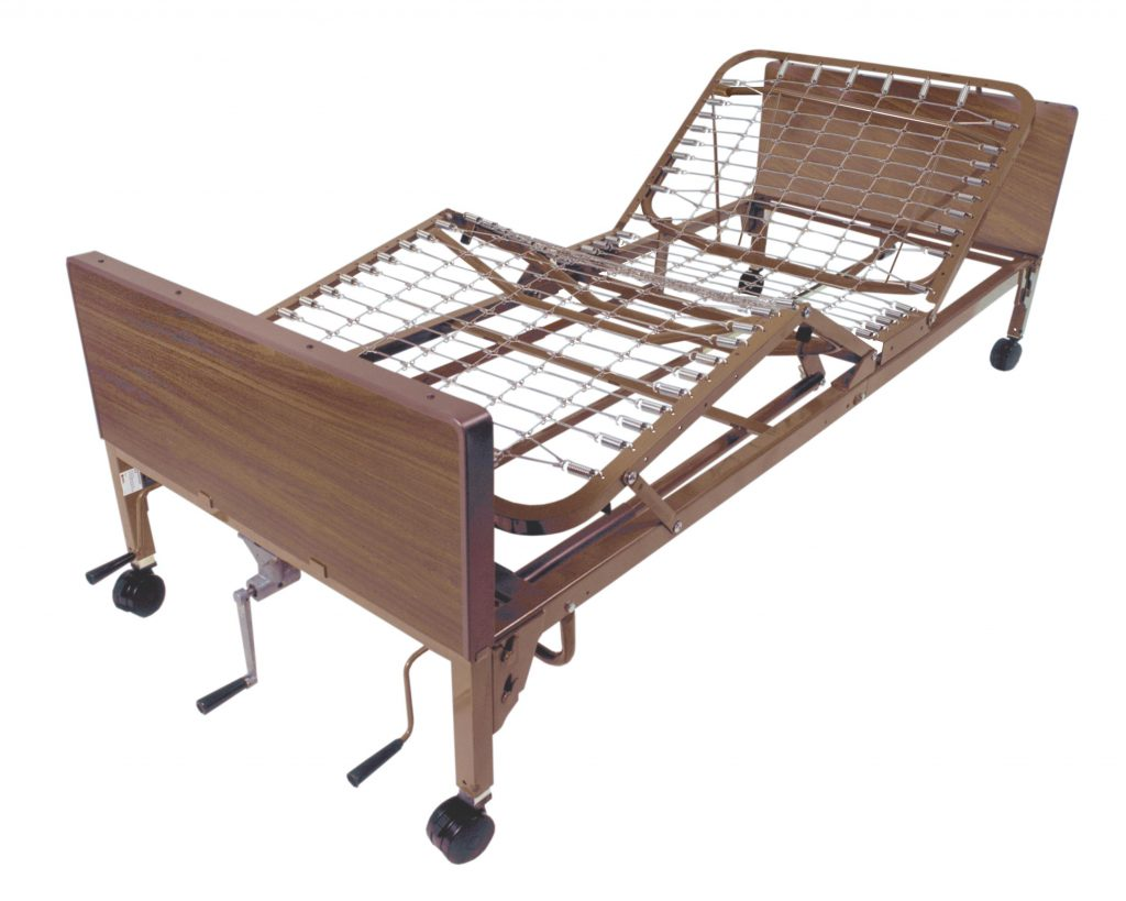 Drive medical manual bed brown 36 inches