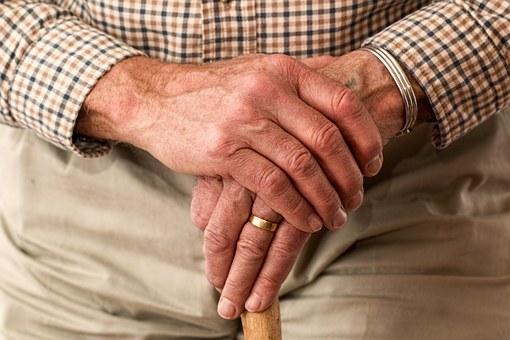 elderly at hospice
