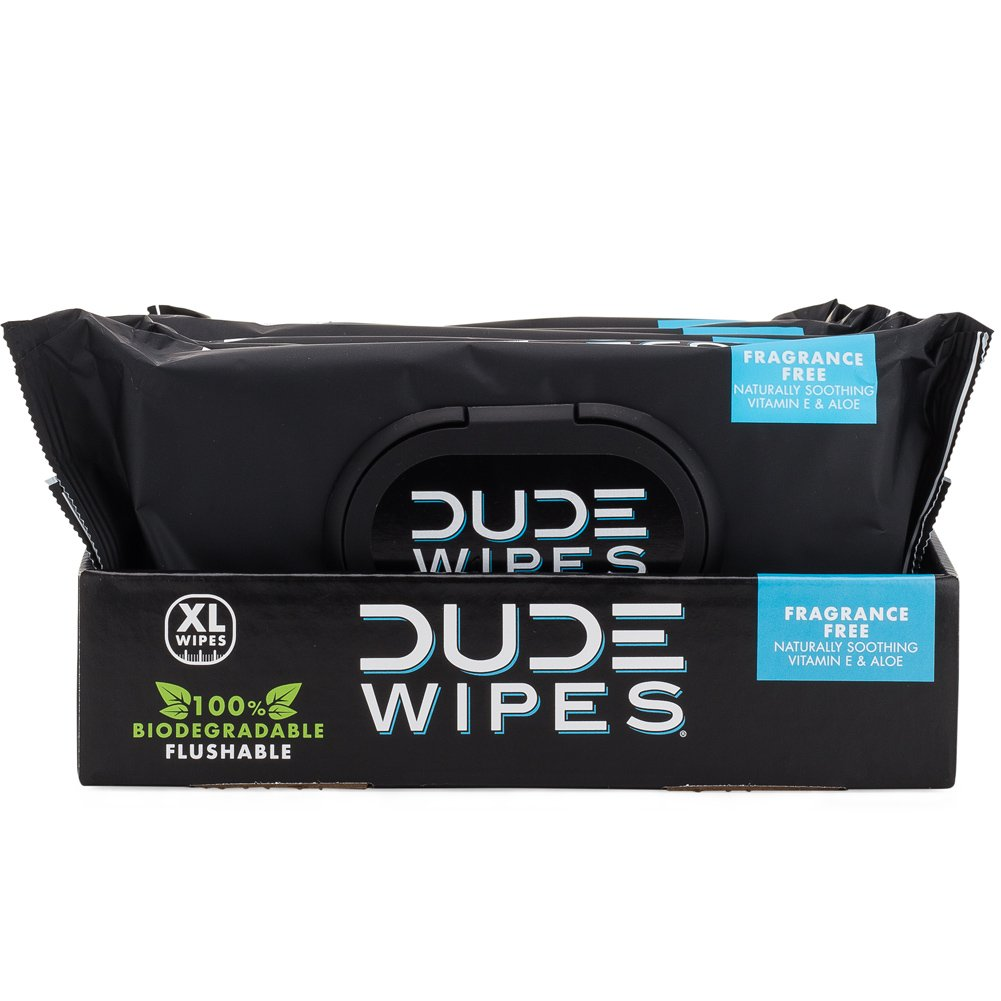 dude flushable wipes