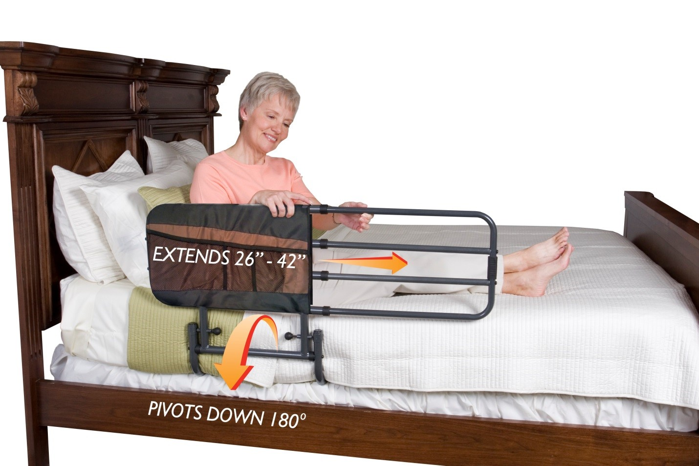 ez adjust bed rail by stander