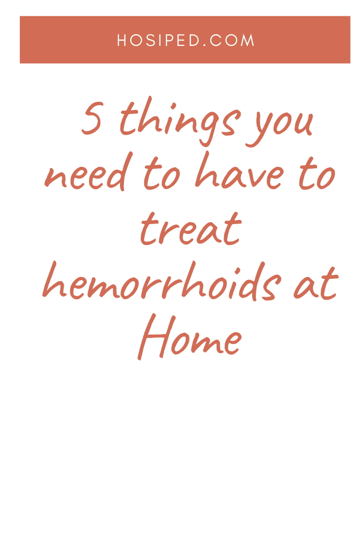 ingredients needed for hemorrhoid treatment at home