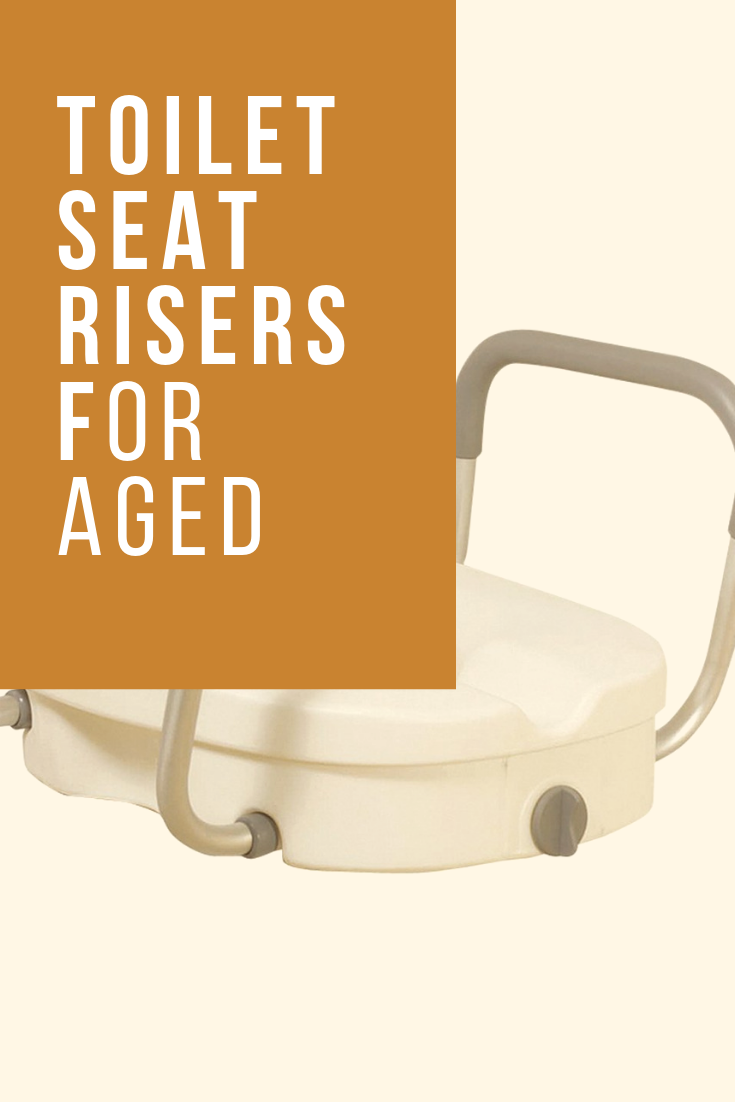 toilet seat riser with arms for the elderly