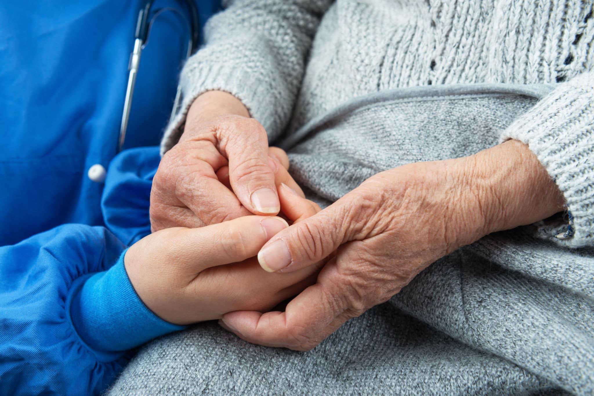 nursing assistant with hospice patient