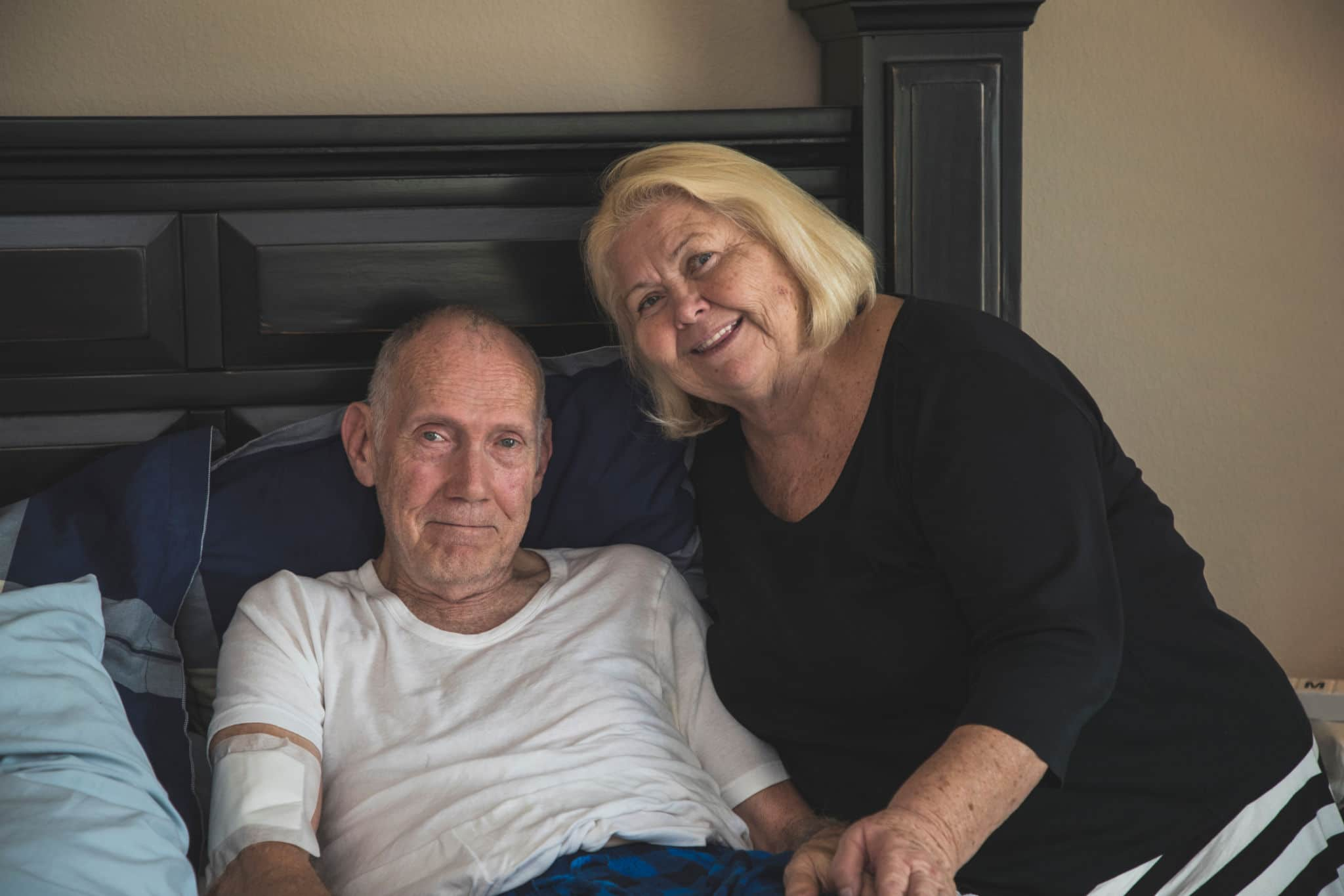 hospice patient with spouse at home